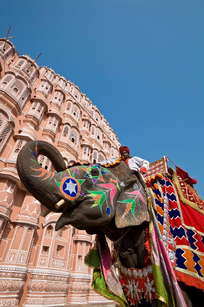 Stock Photo: 1609-25208 Palace of the Winds Hawa Mahal, Jaipur, Rajasthan, India
