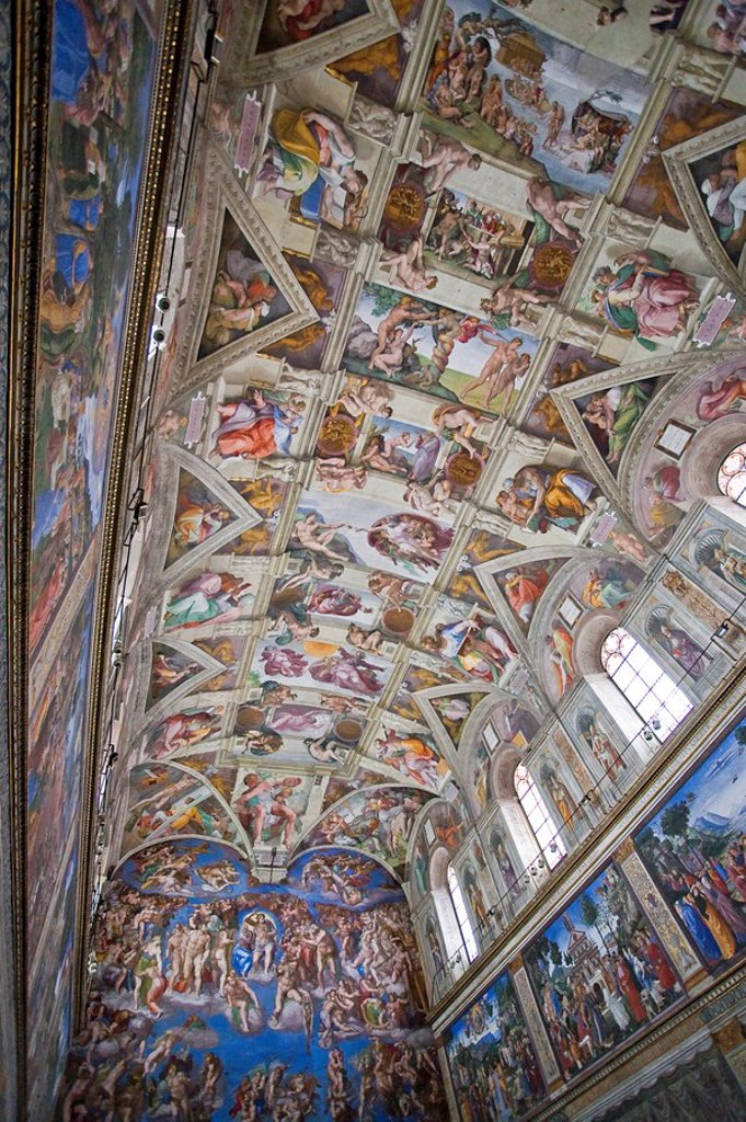 Stock Photo: 1609-25267 Michelangelo´s Sistine Chapel and The Last Judgement, Rome, Italy