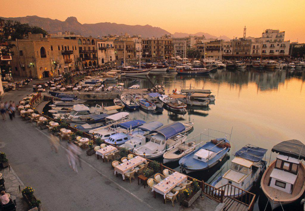 Kyrenia Harbour, Kyrenia, Turkish Cyprus : Stock Photo