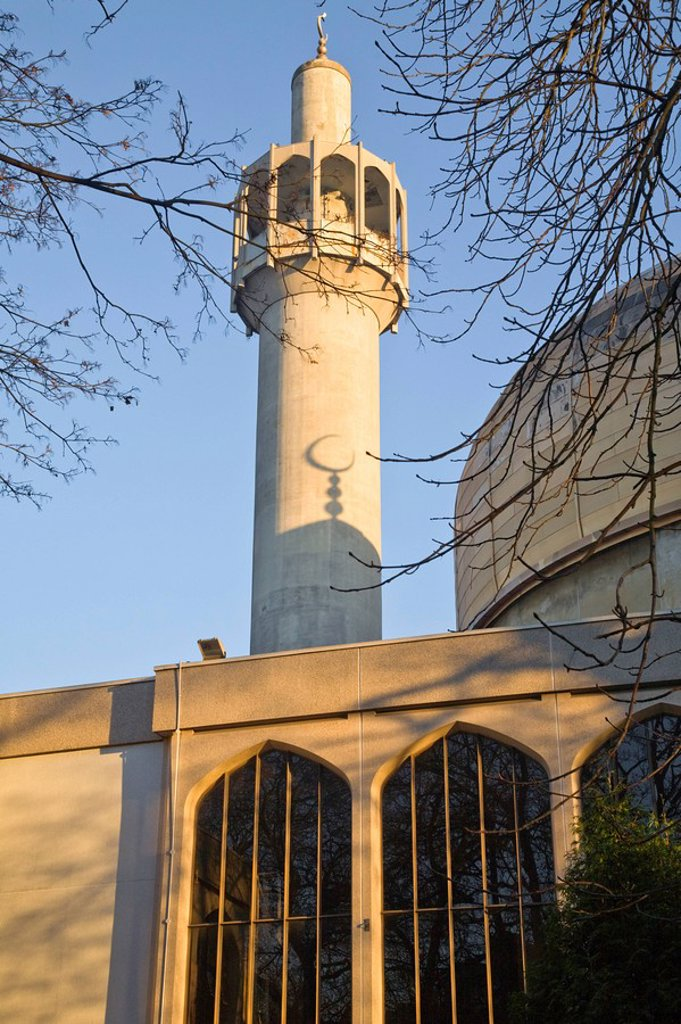 Stock Photo: 1609-26252 England, London, St John´s Wood, Regents Park, London Central Mosque Regents´s Park Mosque
