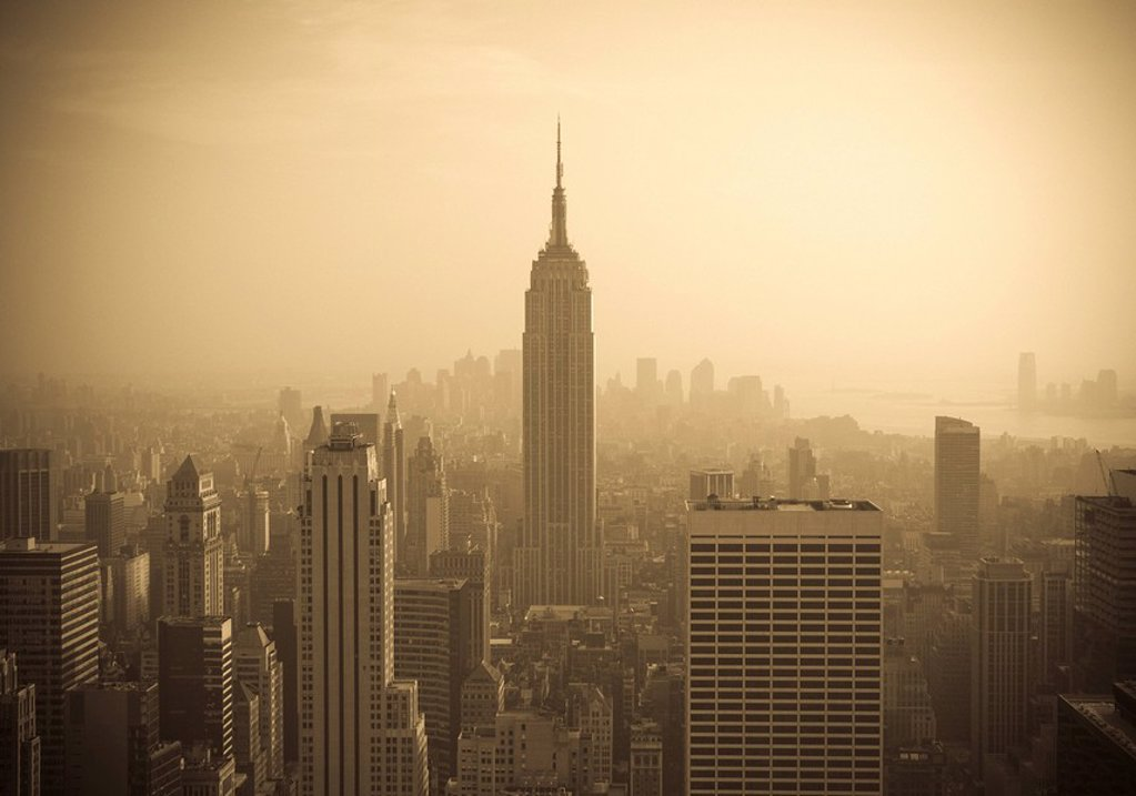 Stock Photo: 1609-26286 USA, New York City, Manhattan Skyline including Empire State Building