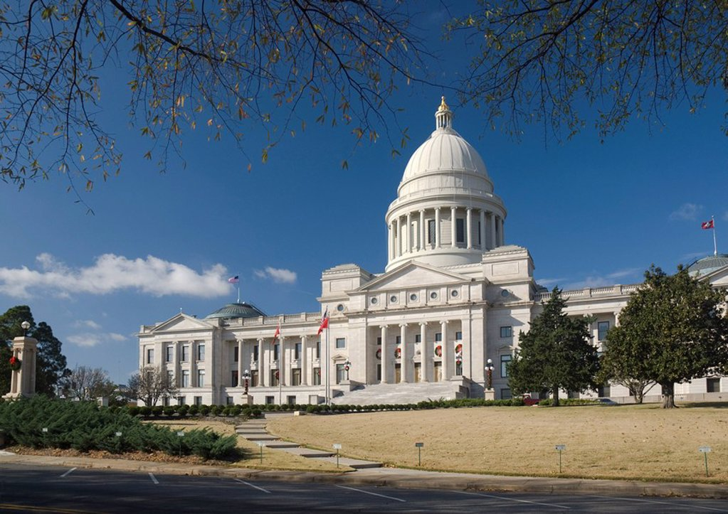 Arkansas, Little Rock, State Capitol : Stock Photo