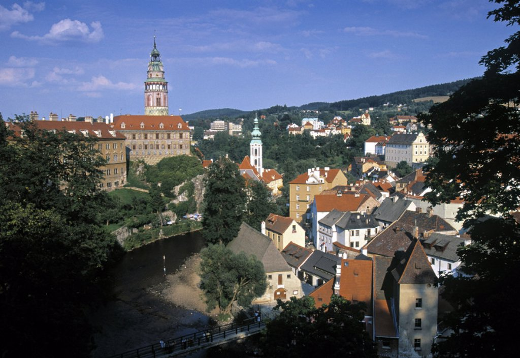 Krumlov Castle, Cesky Krumlov, South Bohemia, Czech Republic : Stock Photo