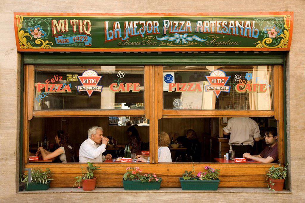 Stock Photo: 1609-26970 Restaurant San Telmo, Buenos Aires, Argentina