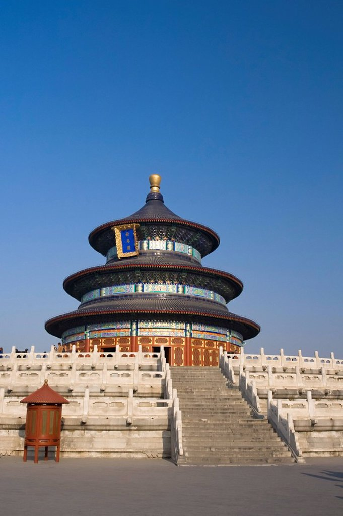 Qinan Hall, Temple of Heaven, Beijing, China : Stock Photo