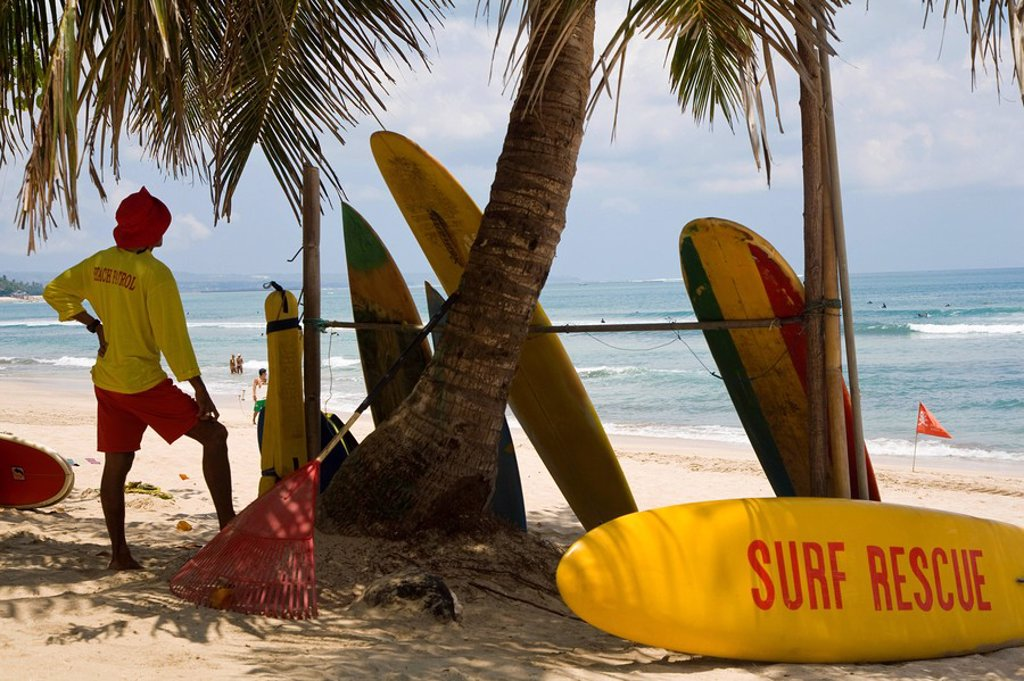 Stock Photo: 1609-27689 Surf rescue, Kuta beach, Bali, Indonesia