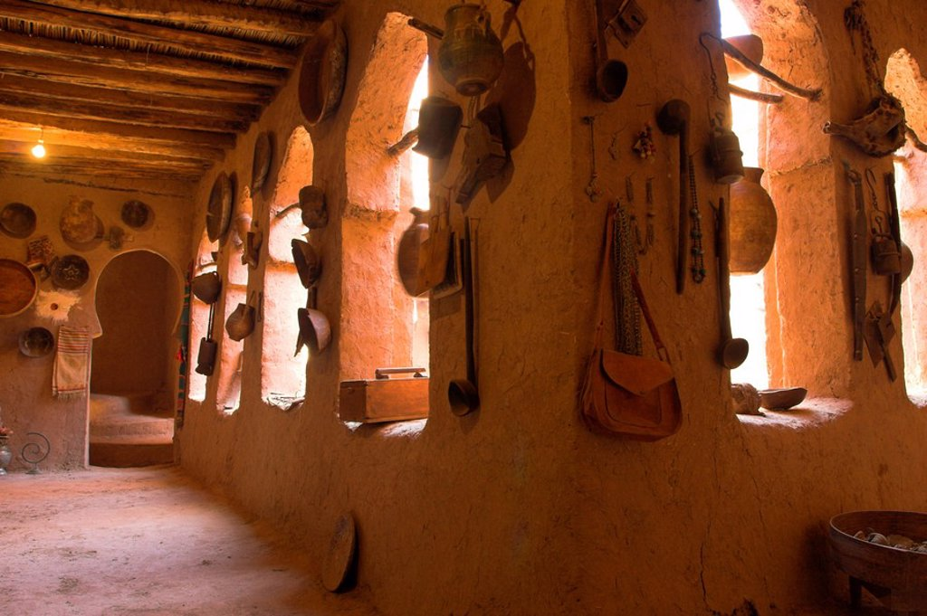 Stock Photo: 1609-27801 Morocco, Zagora, Amazrou, Old Jewish kasbah ´La Kasbah des Juifs´