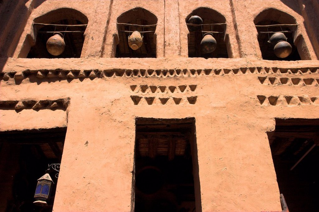 Morocco, Zagora, Amazrou, Old Jewish kasbah ´La Kasbah des Juifs´ : Stock Photo