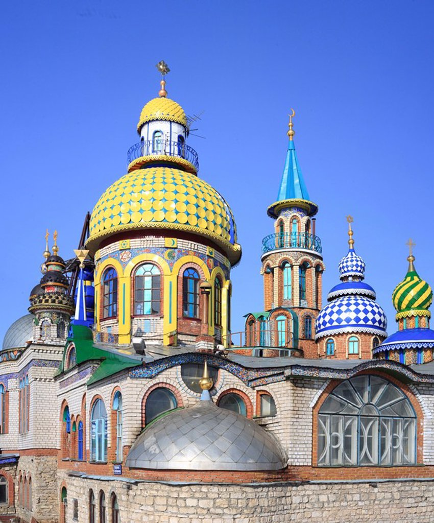 ´Temple of all religions´, modern architecture, Kazan, Tatarstan, Russia : Stock Photo