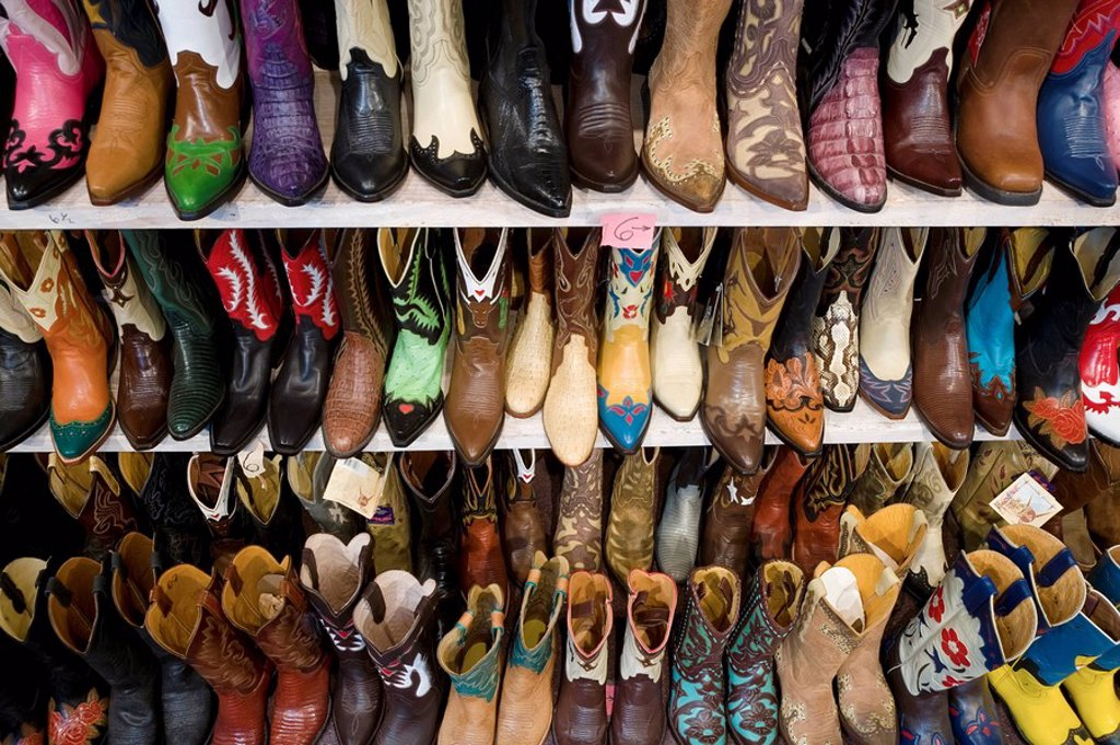 Stock Photo: 1609-28024 Cowboy boots, Santa Fe, New Mexico, USA