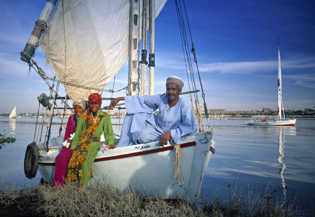 Stock Photo: 1609-3053 Felucca, Luxor, Egypt