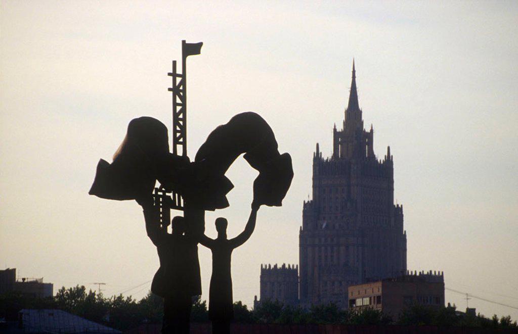 Stalinist skyscraper, Moscow, Russia : Stock Photo