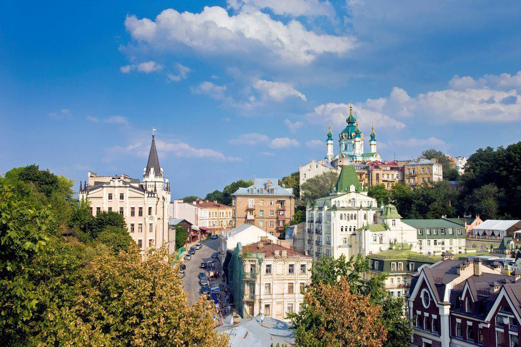St. Andrews Orthodox Church, Podil, Kiev, Ukraine : Stock Photo