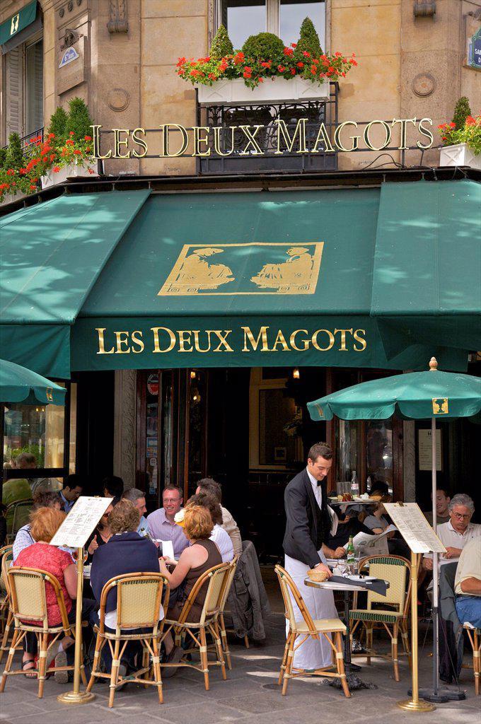 Stock Photo: 1609-33032 Les Deux Magots Restaurant, Paris, France
