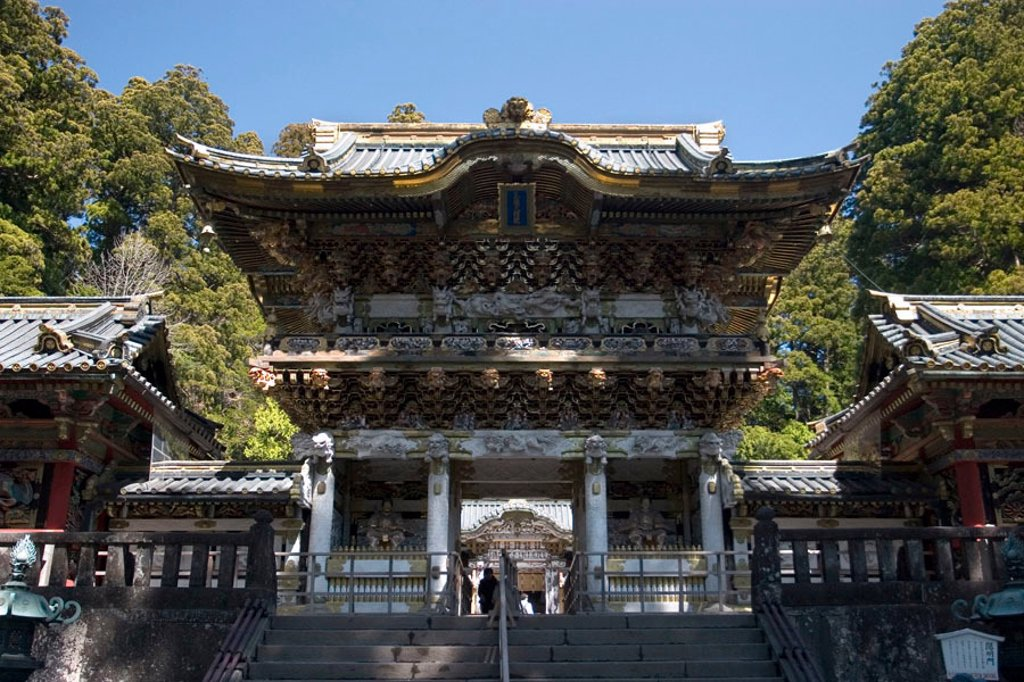 Stock Photo: 1609-33313 Chinese Gate, Nikko Tosho-gu Shinto Shrine, Nikko, Japan