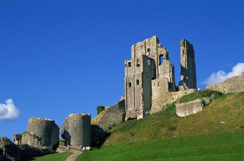 England, Dorset, Corfe Castle : Stock Photo