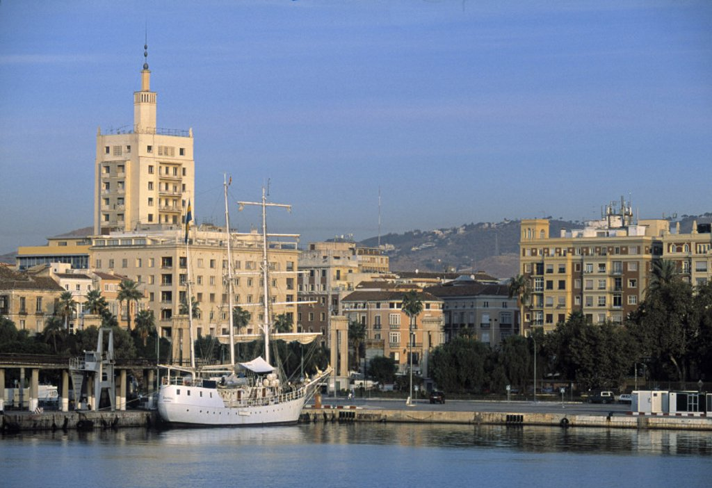 Waterfront of Malaga, Costa del Sol, Spain : Stock Photo
