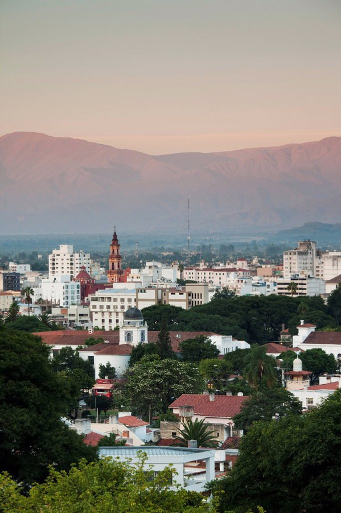 Stock Photo: 1609-33646 Argentina, Salta Province, Salta, view from the east, dawn