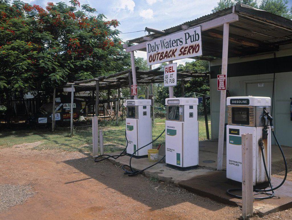 Petrol Station, Northern Territory, Australia : Stock Photo
