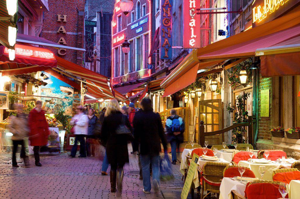 Stock Photo: 1609-33918 Rue des Bouchers, Brussels, Belgium