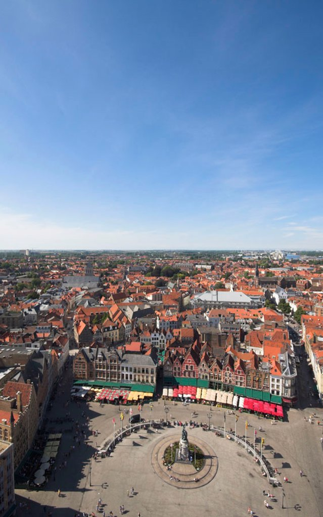 Stock Photo: 1609-33938 The Markt (Main Market Place), Bruges, Flanders, Belgium
