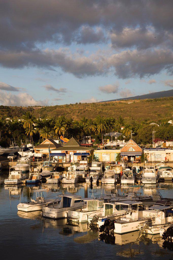 Stock Photo: 1609-34362 Reunion Island, St_Gilles_Les_Bains, Port de Plaisance marina