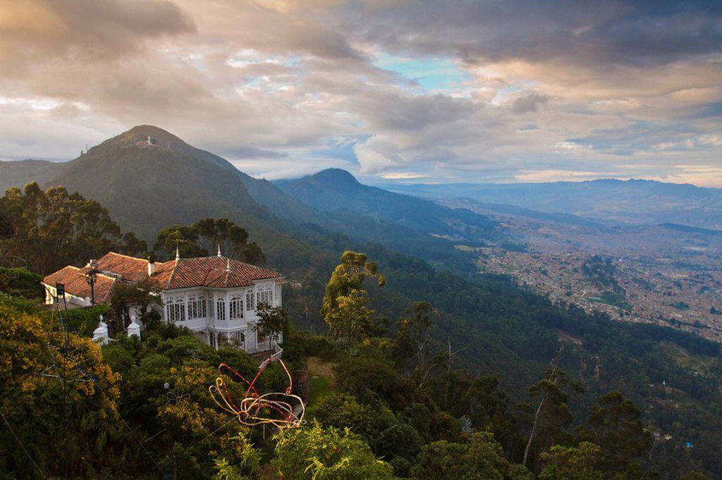 Stock Photo: 1609-34697 Colombia, Bogota, Cerro de Monserrate, Restaurant on Monserrate Peak