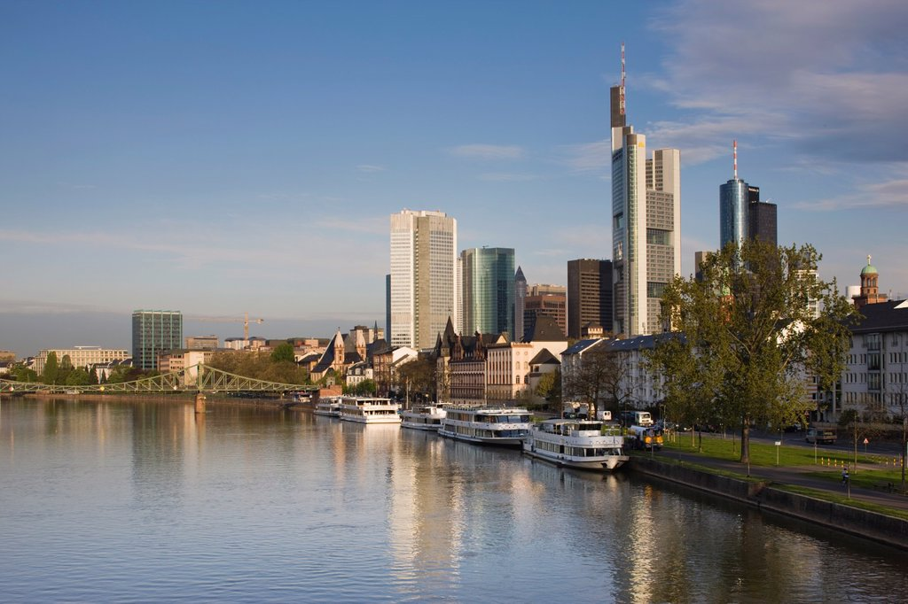 Germany, Hessen, Frankfurt_am_Main, Skyline : Stock Photo