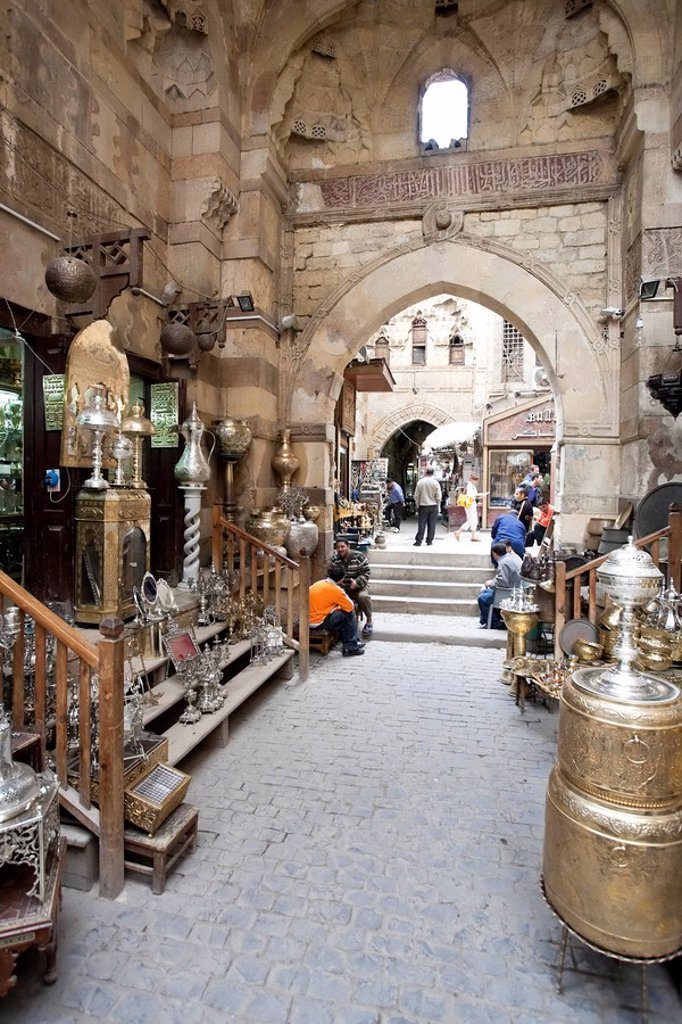 Stock Photo: 1609-35530 Egypt, Cairo, Islamic Quarter, Khan el Khalili Bazaar
