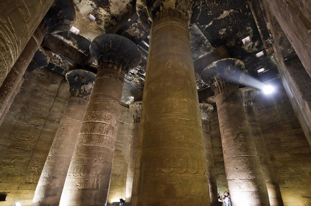 Stock Photo: 1609-35594 Egypt, Edfu, Temple of Orus the Hawk God, Protector of Osiris