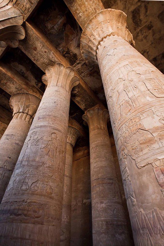 Stock Photo: 1609-35596 Egypt, Edfu, Temple of Orus the Hawk God, Protector of Osiris
