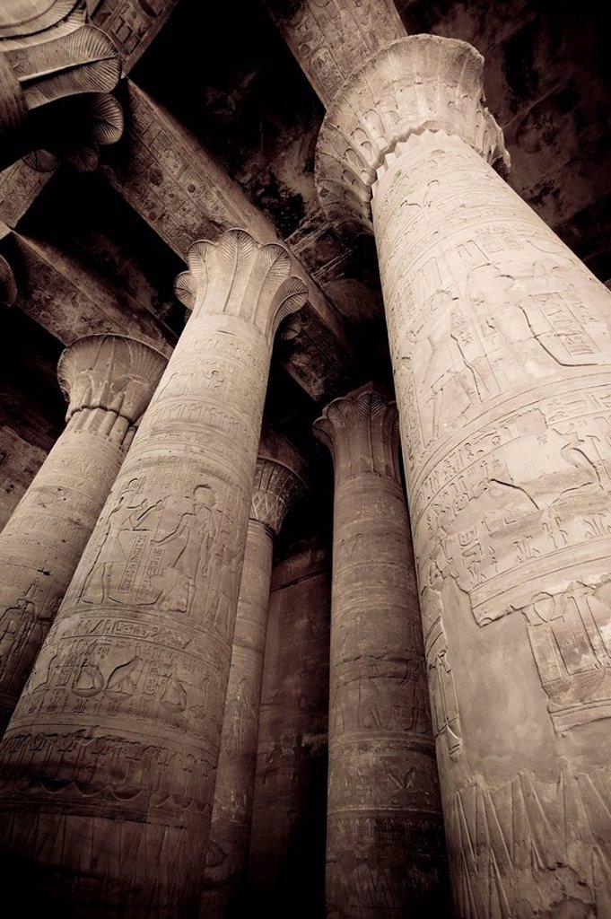 Stock Photo: 1609-35597 Egypt, Edfu, Temple of Orus the Hawk God, Protector of Osiris