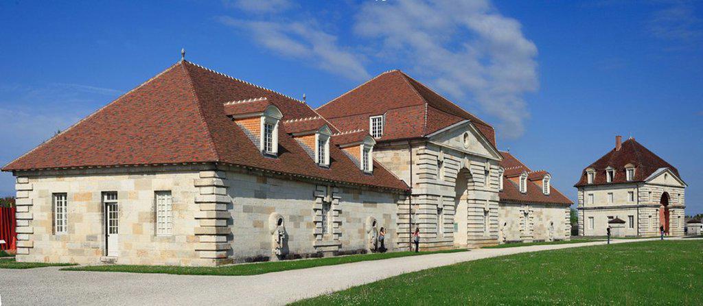 Stock Photo: 1609-36398 Saline Royale Royal Saltworks, UNESCO World Heritage site, Arc_et_Senans, Franche_Comte, France