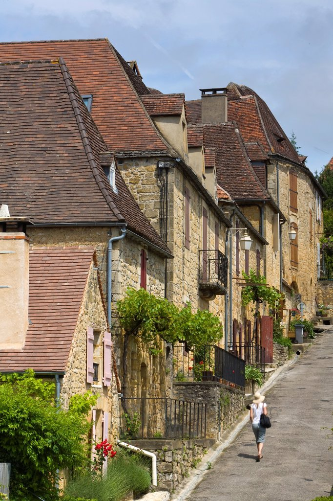 Domme, Dordogne, Aquitaine, France : Stock Photo