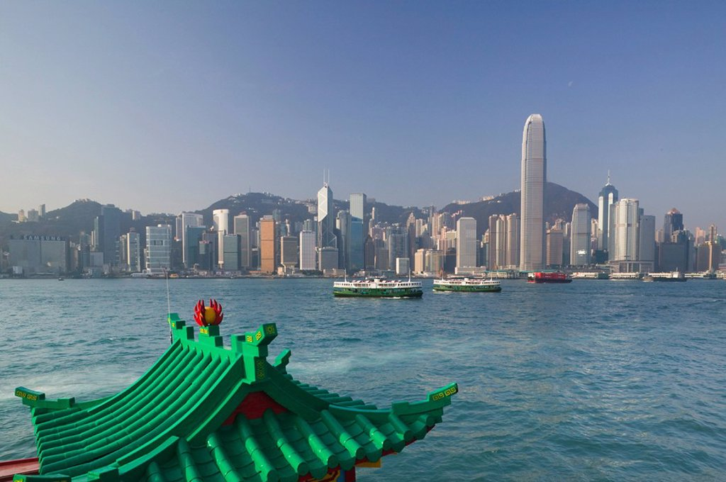 Stock Photo: 1609-36867 China, Hong Kong, Central, International Financial Centre, Victoria Harbour, from Kowloon