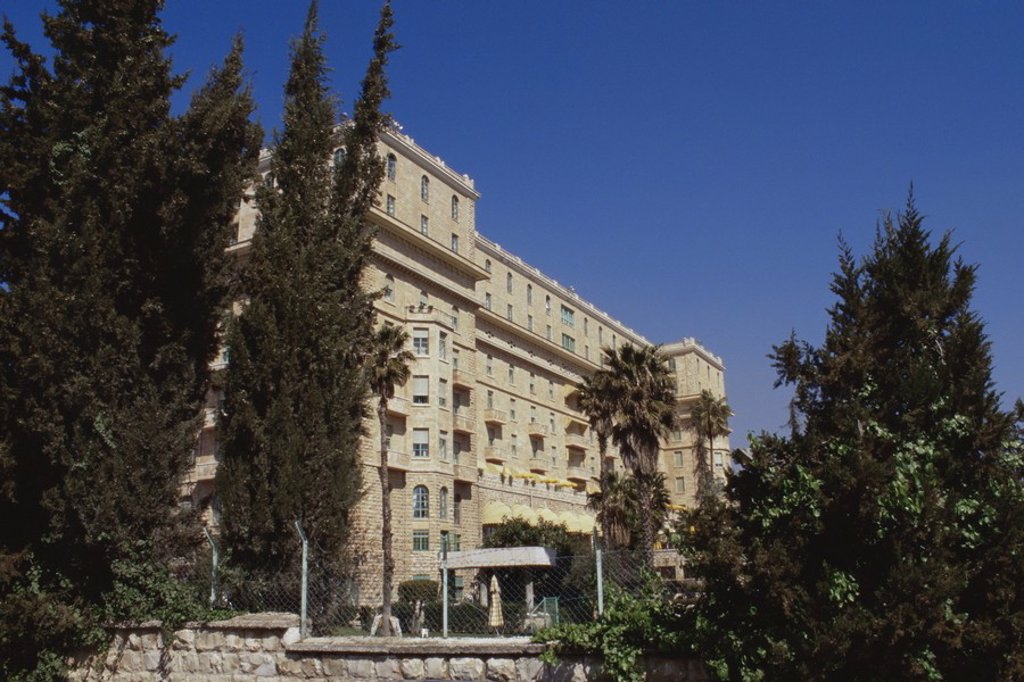 Stock Photo: 1609-37704 King David Hotel, Jerusalem, Israel