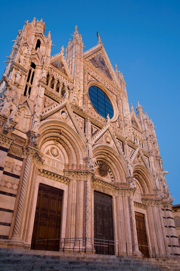 Duomo at Dusk, Sienna, Tuscany, Italy : Stock Photo