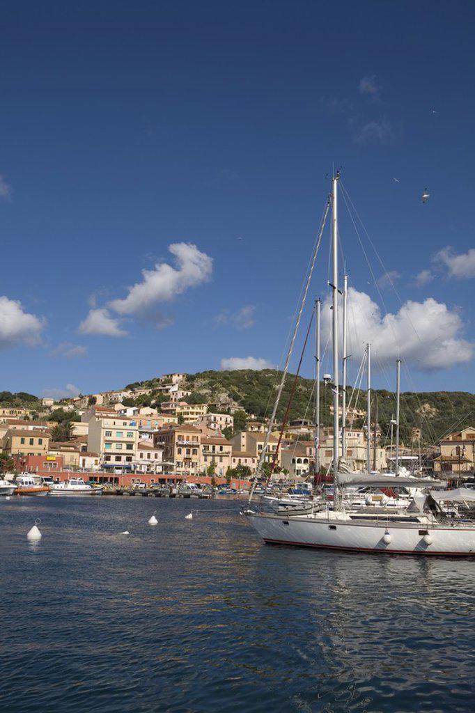 Stock Photo: 1609-38290 La Maddalena Harbour, Maddalena Archipelago, Costa Smeralda, Sardinia, Italy
