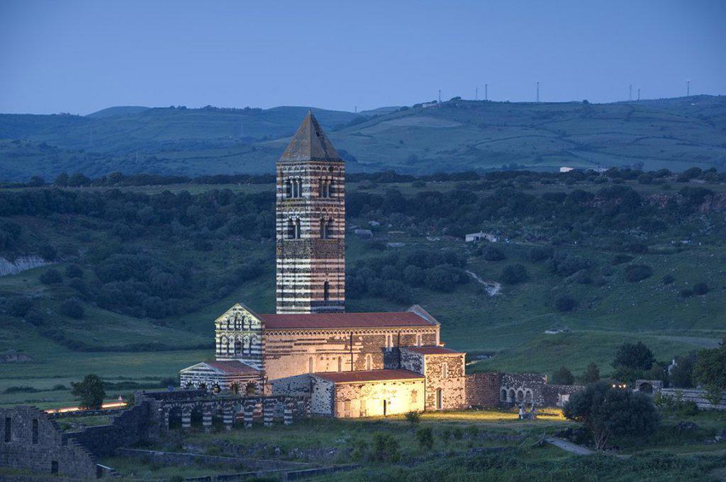 Stock Photo: 1609-38335 Santissima Trinita di Saccargia, Sardinia, Italy