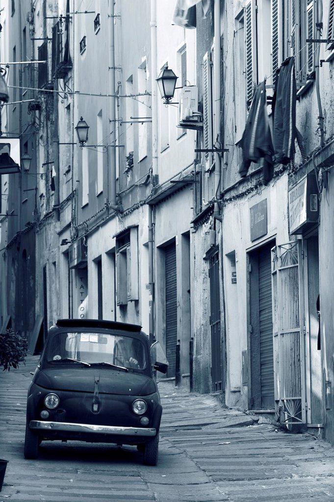 Old City, Sassari, Sardinia, Italy : Stock Photo