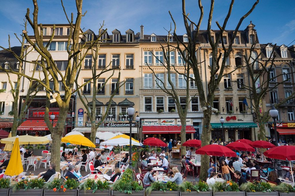 Stock Photo: 1609-38686 Luxembourg, Luxembourg City, Place d´Armes, outdoor cafes