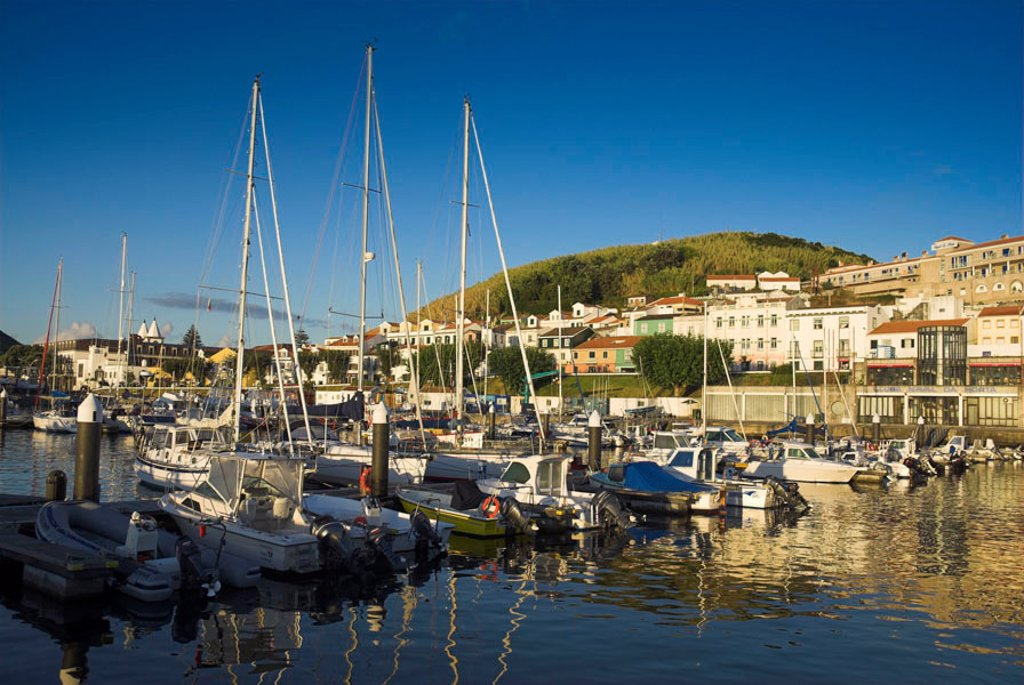 Stock Photo: 1609-39623 Harbour at Horta, Faial Island, Azores, Portugal