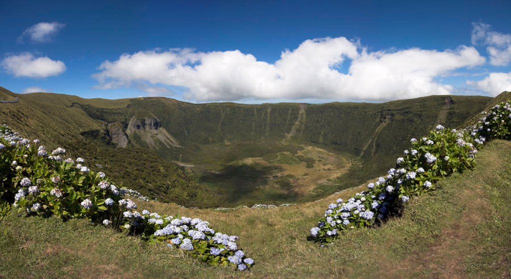 Stock Photo: 1609-39648 Volcanic crater, Reserva Natural da Caldeira do Faial, Faial Island, Azores, Portugal
