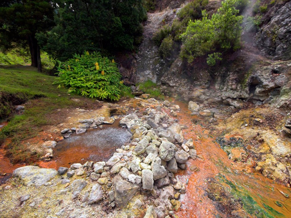 Stock Photo: 1609-39665 Hot Springs, Furnas, Sao Miguel Island, Azores, Portugal