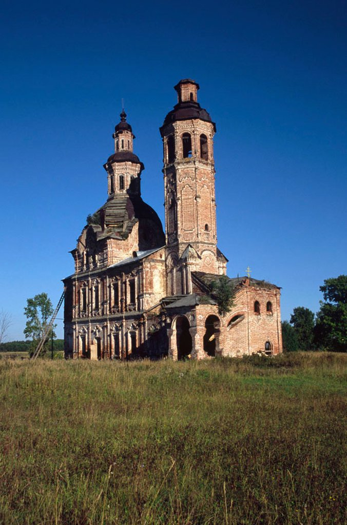 Stock Photo: 1609-39734 Church of Saviour (1773-83), Vyaz, Vyatka (Kirov) region, Russia
