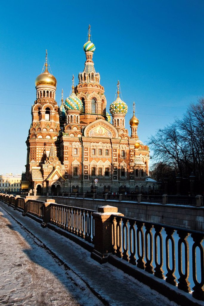 Stock Photo: 1609-39826 The Church of our Saviour on the spilled blood, Saint Petersburg, Russia