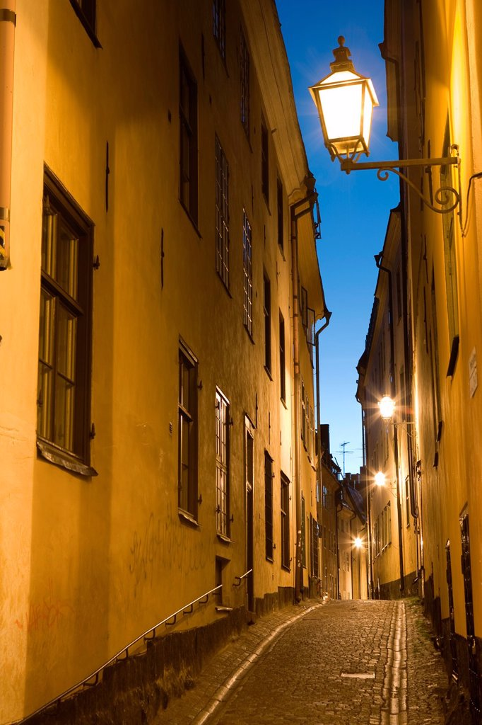 Stock Photo: 1609-40113 Gamla Stan at Dusk, Stockholm, Sweden