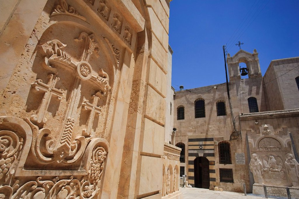 Syria, Aleppo, The Old Town UNESCO Site, Armenian Cathedral of the 40 Martyrs : Stock Photo