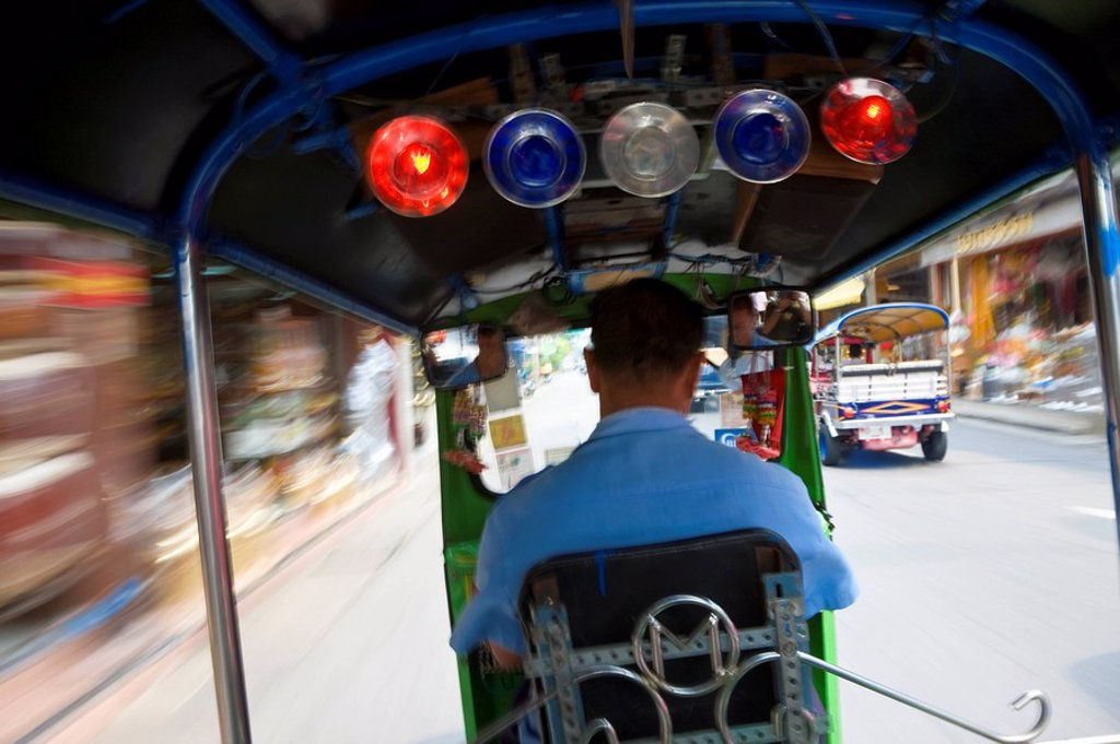 Tuk Tuk or auto rickshaw, Bangkok, Thailand : Stock Photo