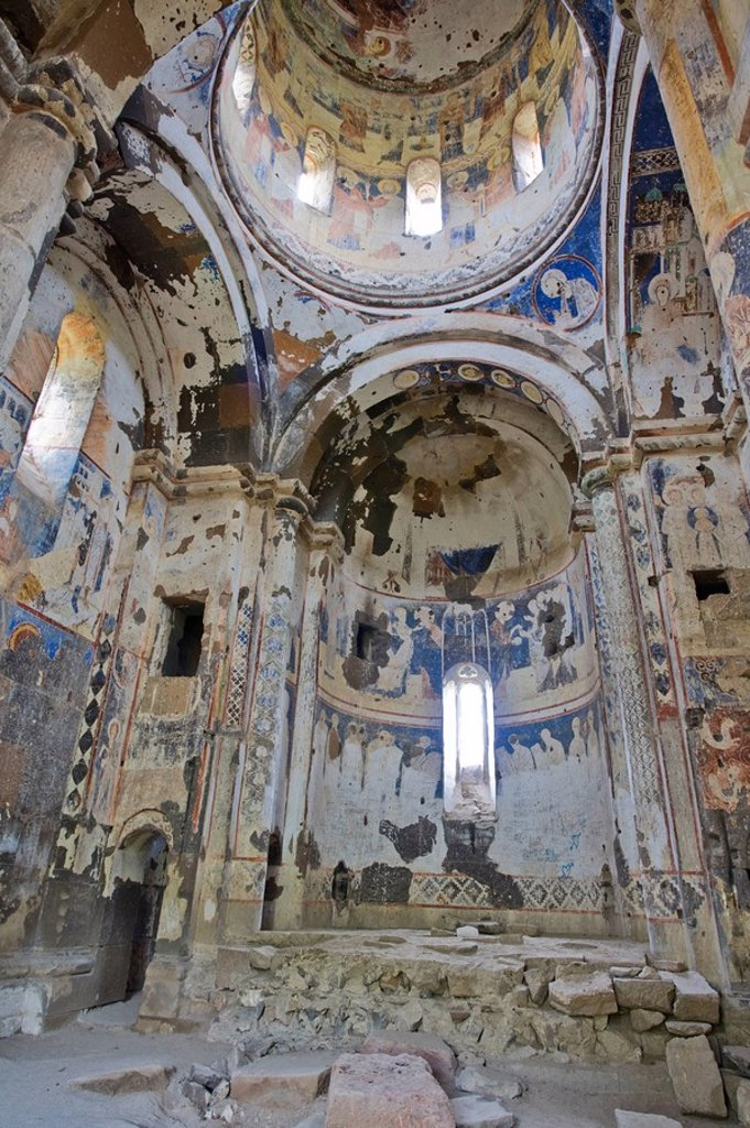 Stock Photo: 1609-40825 Turkey, Eastern Turkey, Kars, Ani Ruins, Church of St Gregory Tigran Honentz, frescoes